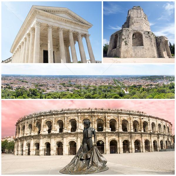 Műemlékek összetett kép négy épület utazás Stock fotó © cynoclub