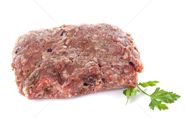 Hús töltelék fehér főzés stúdió kolbász Stock fotó © cynoclub