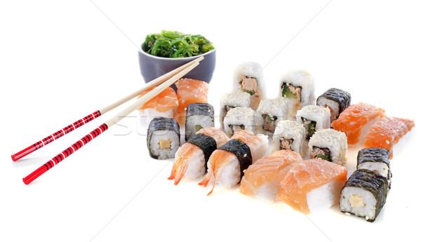 Stock photo: sushi and algae
