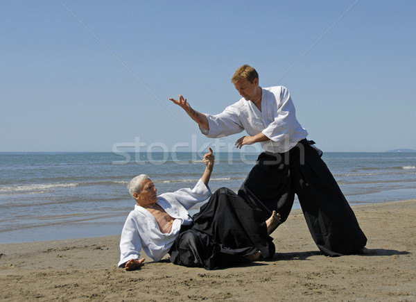 aikido on the beach Stock photo © cynoclub
