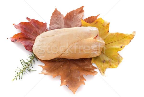 foie gras on leaf Stock photo © cynoclub