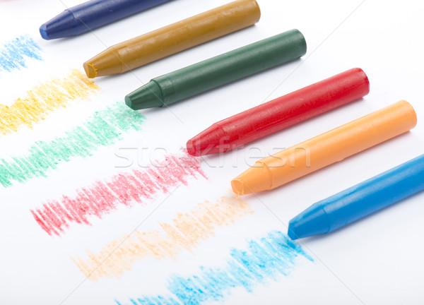 Cor lápis branco projeto lápis Foto stock © cypher0x