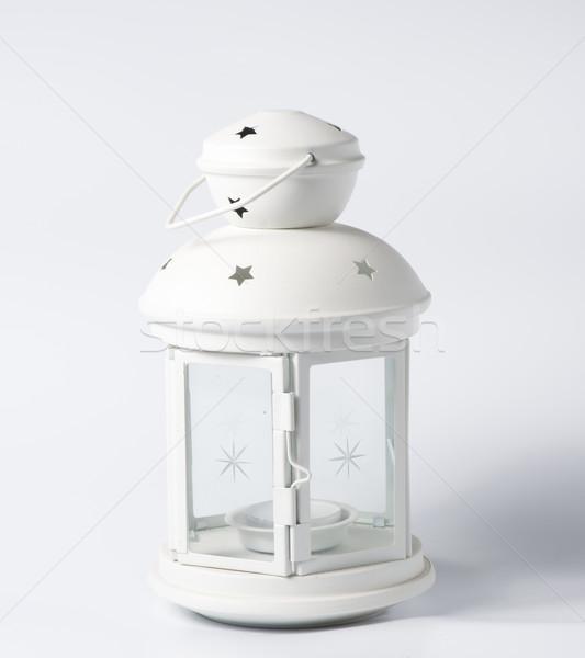 Blanche décoratif lanterne vieux style verre Photo stock © cypher0x
