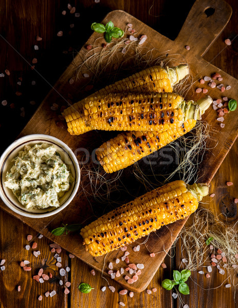 Delicious grilled corn Stock photo © cypher0x