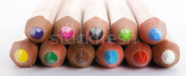 Couleur crayons blanche design crayon Photo stock © cypher0x