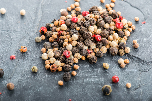 Close up selection of various pepper types Stock photo © cypher0x