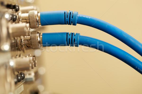 Kettő hd kábelek makró lövés digitális Stock fotó © d13