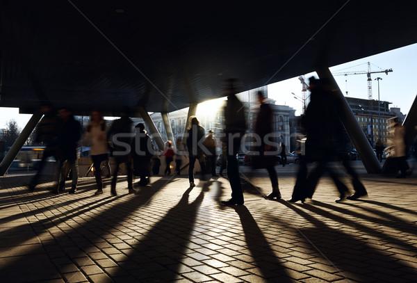 People walking near the metro station. Stock photo © d13