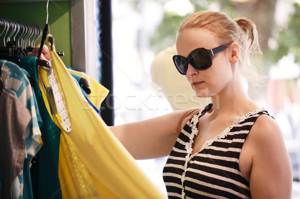 若い女の子 ドレス ショップ 若い女性 サングラス ストックフォト © d13