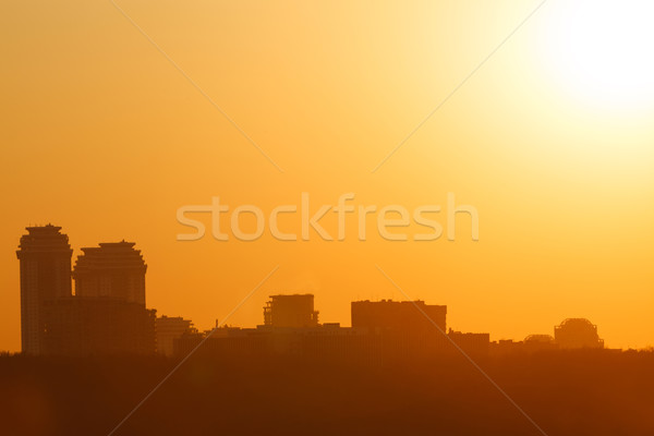 Mooie zonsondergang stad zonsondergang gouden Stockfoto © d13