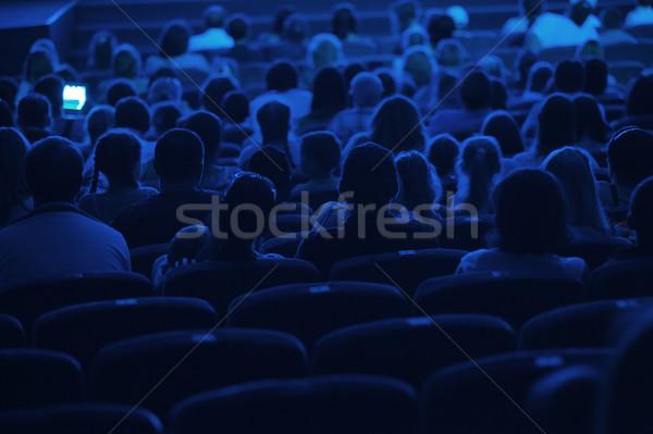 観客 映画 シルエット ショット 戻る 青 ストックフォト © d13