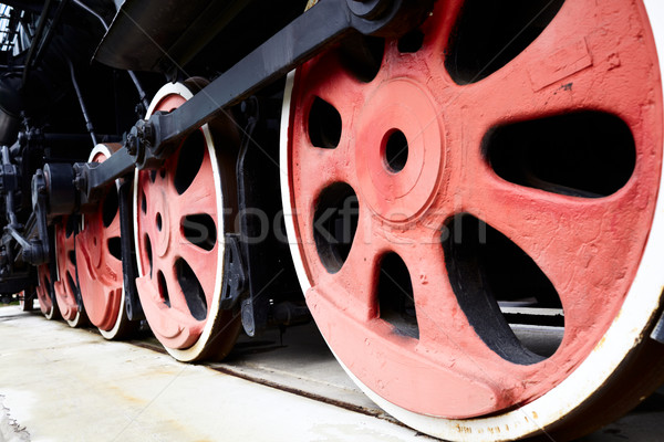 Old Steam Train Wheels Stock photo © d13