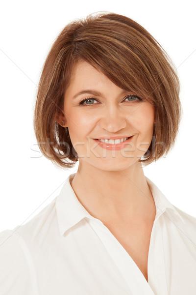 Aantrekkelijk volwassen vrouw glimlachend Stockfoto © d13