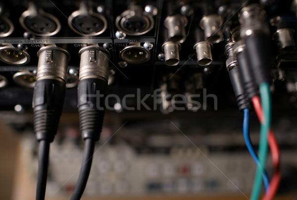 Hátsó panel profi furulya kábelek videó Stock fotó © d13
