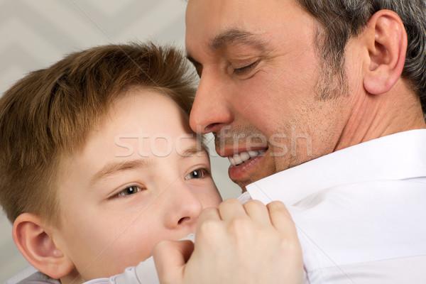 Aufrichtig Liebe Eltern Kind erschossen Stock foto © d13