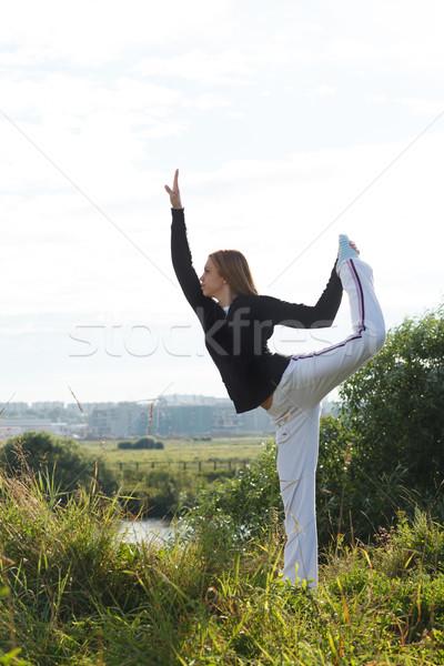 Yoga Asana pose Stock photo © d13