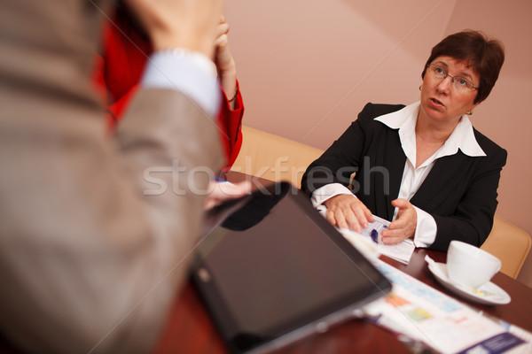 女性実業家 会議 手 ストックフォト © d13