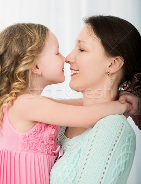 Madre hija tocar hermosa otro Foto stock © d13