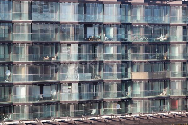 Exterior of a modern apartment block Stock photo © d13