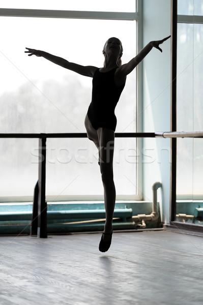 Ballet dancer in arabesque position Stock photo © d13