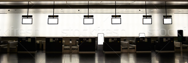 Empty airport check-ins Stock photo © d13