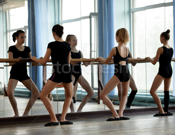 Ballet dancers warming up Stock photo © d13
