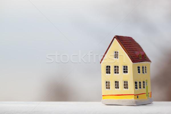 Miniatura casa figurina outdoor business Foto d'archivio © d13