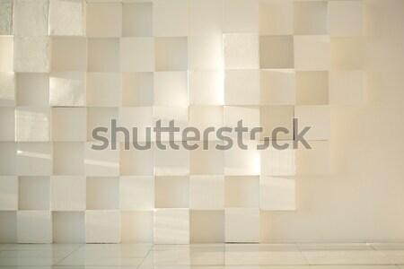白 描いた 具体的な 壁 キューブ タイル張りの ストックフォト © d13