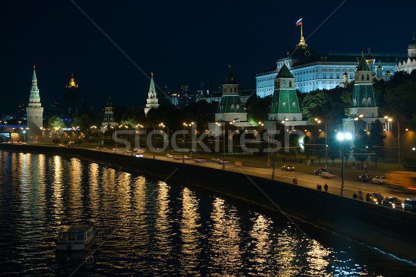 Moscow Kremlin at night. Stock photo © d13