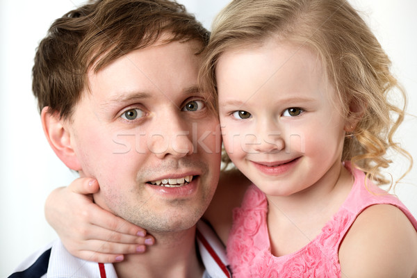 Portrait of happy daughter with dear father Stock photo © d13
