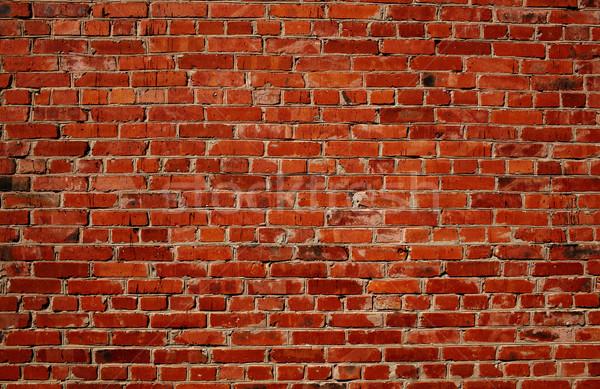 Kırmızı tuğla duvar model doku muhteşem duvar yazısı Stok fotoğraf © d13