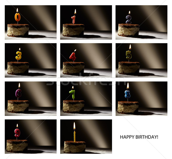 Collage of birthday candles. Stock photo © d13