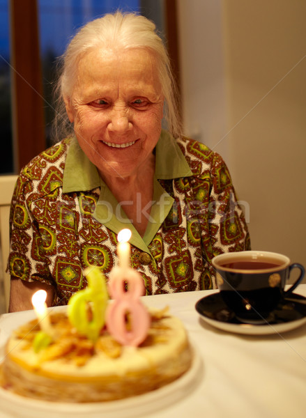 Grandmother's 86th birthday. Stock photo © d13