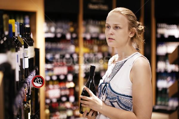 女性 ショッピング アルコール ボトル ストア ワイン ストックフォト © d13
