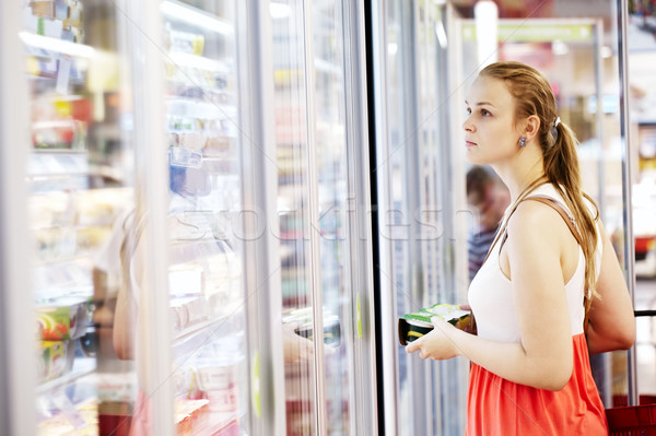 Young woman at the supermarket Stock photo © d13