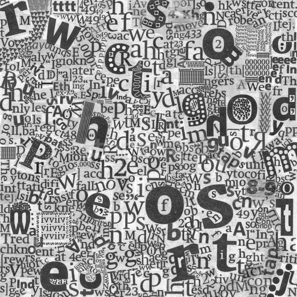 Abstract kranten kunst brieven echt textuur Stockfoto © d13