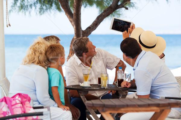 Familia aire libre Servicio Resort grande Foto stock © d13