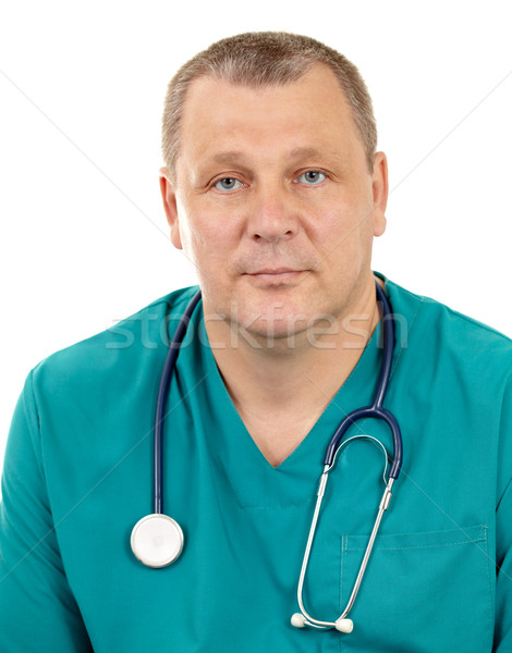 Doctor with stethoscope. Stock photo © d13