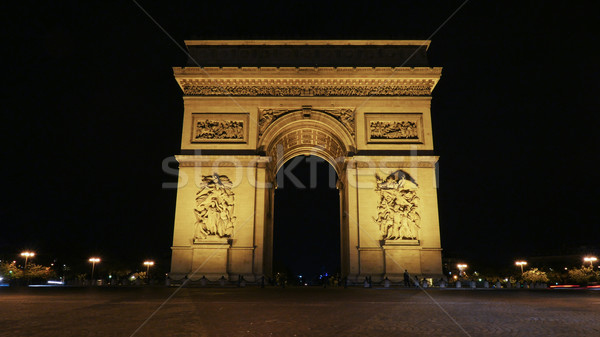 Famous Champs-Elysees arch at night Stock photo © d13