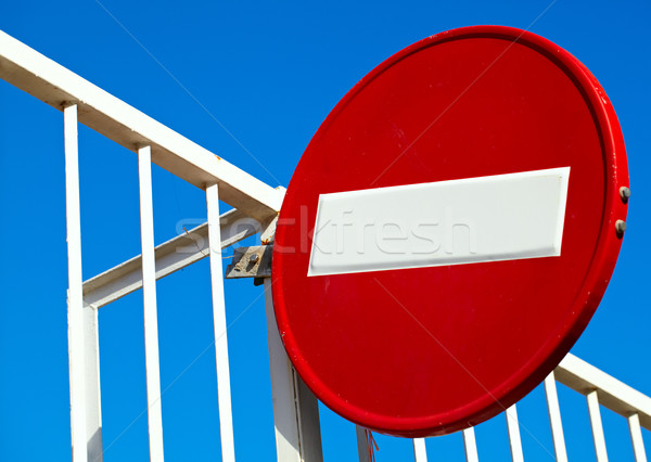 Round sign No Entry Stock photo © d13