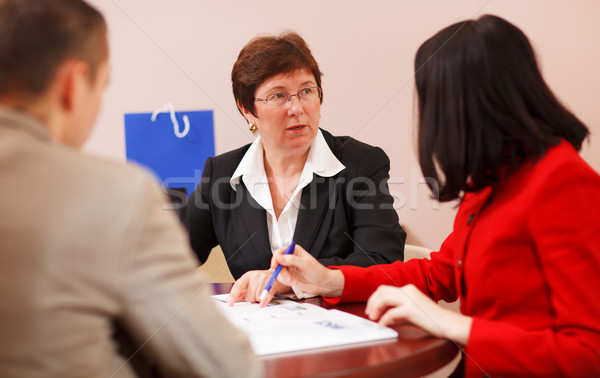 Business team having a brainstorming session Stock photo © d13