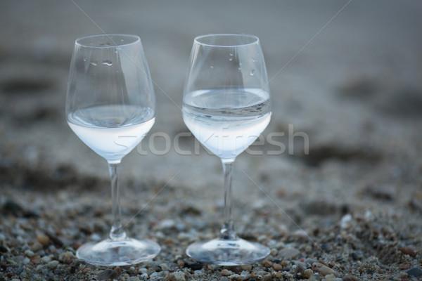 Twee bril water strand zoetwater permanente Stockfoto © d13