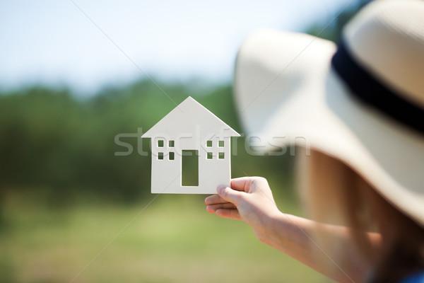 Kobieta domu model lata Zdjęcia stock © d13