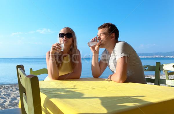ドリンク 夏休み 座って ストックフォト © d13