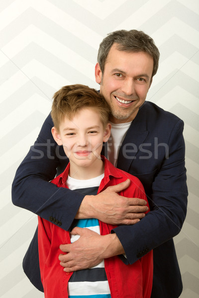 счастливым отец сын Семейный портрет гордый Сток-фото © d13