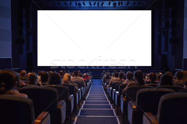 Empty cinema screen with full crowd audience. Stock photo © d13