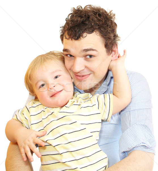 Happy young father with his son. Stock photo © d13