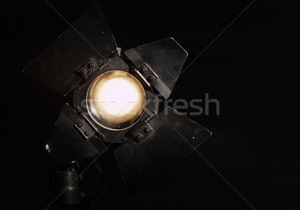 Stüdyo projektör siyah sıcak tungsten ışık Stok fotoğraf © d13