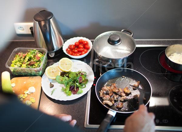 料理 おいしい 家族 ディナー ホーム 男 ストックフォト © d13
