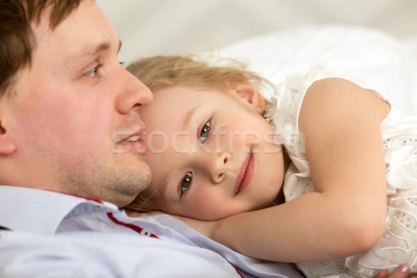 Ragazza vicino amato padre piccolo figlia Foto d'archivio © d13